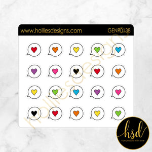 GENP0138 | Social Bubble - Hearts | Hand-Drawn