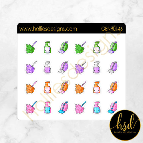 GENP0146 | Kawaii Cleaning Icons