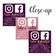 JAMP0005 | Product Labels - Social Media Engagement | Jamberry Direct Sales Consultants | 4 Pack (48 stickers)