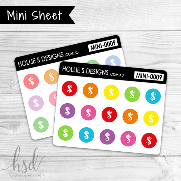 MINI-0009 | Mini Icons - Dollar Signs