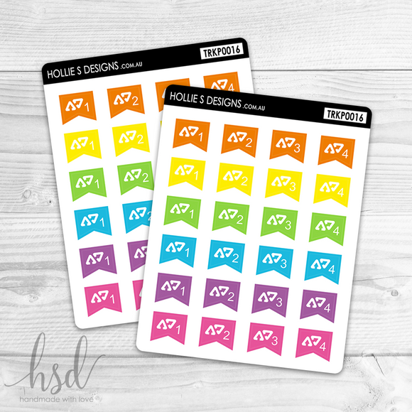 TRKP0016 | Afterpay Payment Tracker Mini Flags | Multi-Colour