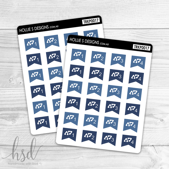 TRKP0017 | Afterpay Payment Tracker Mini Flags | Blue