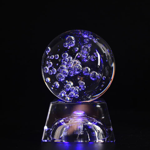 Bubble Crystal Ball with LED Stand