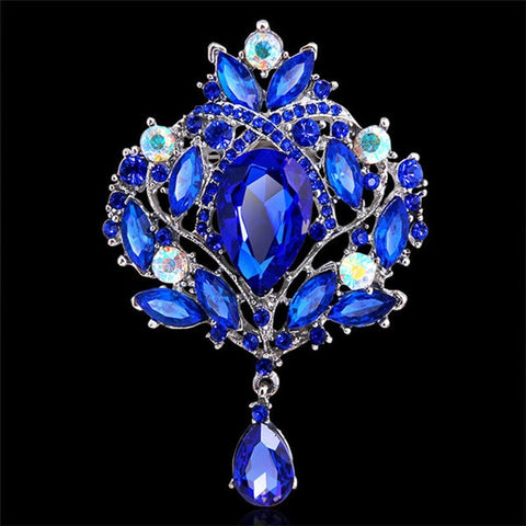 Regal Crystal Brooch