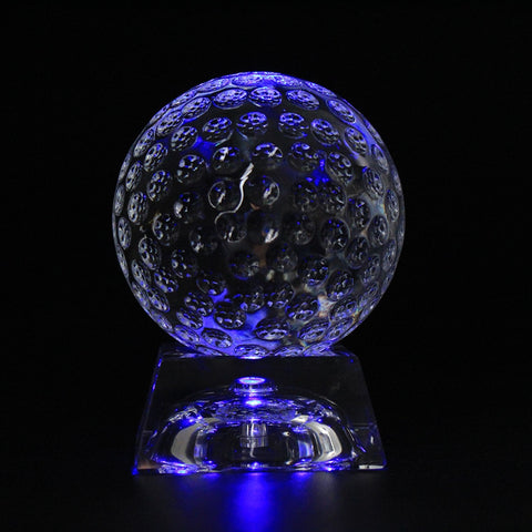 Crystal Golf Ball with LED Base