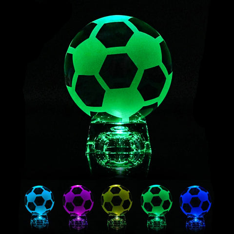 Crystal Soccer Ball with LED Stand