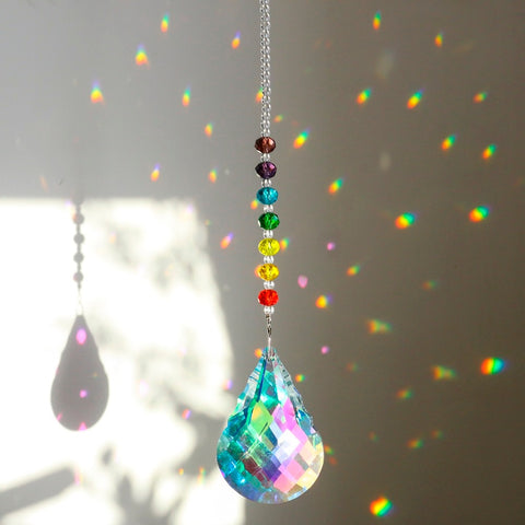 Hanging Beaded Crystal Suncatcher