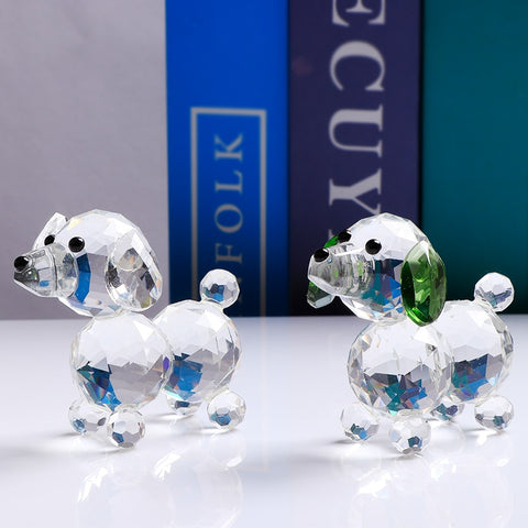 Crystal Puppy Figure