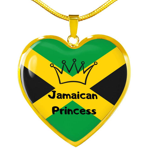 Jamaican Princess Heart Necklace
