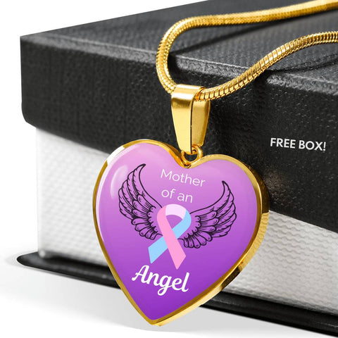Mother of an Angel Heart Necklace