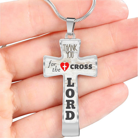 Thank You For The Cross Necklace