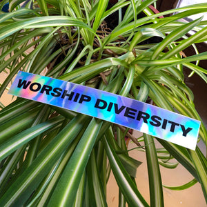 """Worship diversity"" sticker"