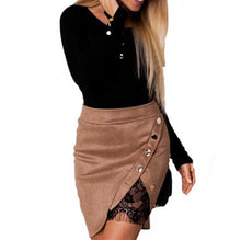 High Waist Leather Mini Skirt NEW
