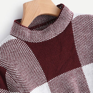 Cropped Grid Sweater NEW