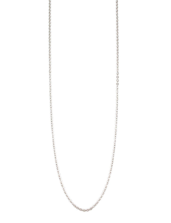 Rhodium plated anchor chain necklace - Dige Designs