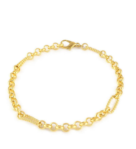 Goldplated chain bracelet - Dige Designs
