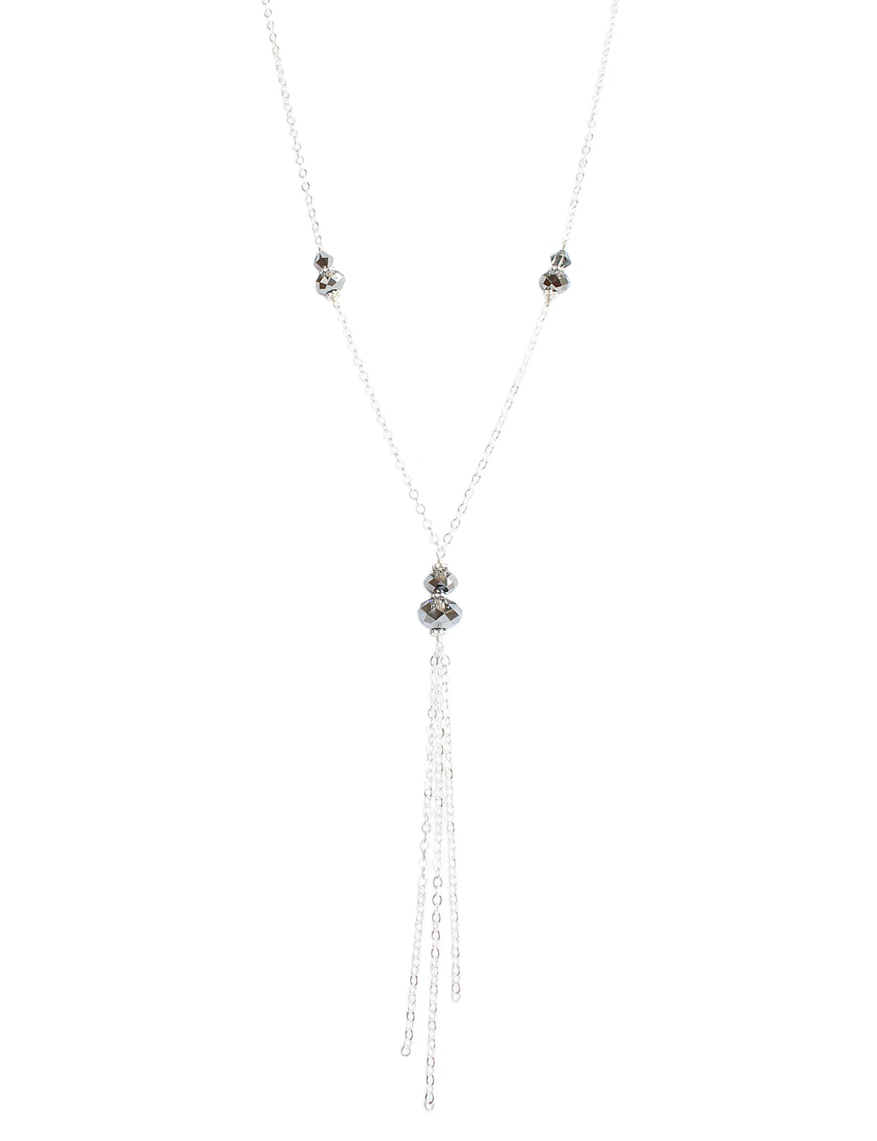 51759239329d3 Long necklace with Black Diamond Swarovski crystals – Dige Designs