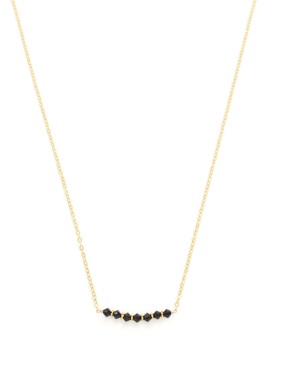 Short necklace with Black Swarovski crystals - Dige Designs