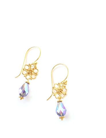 Dige Designs Tanzanite AB drop earrings
