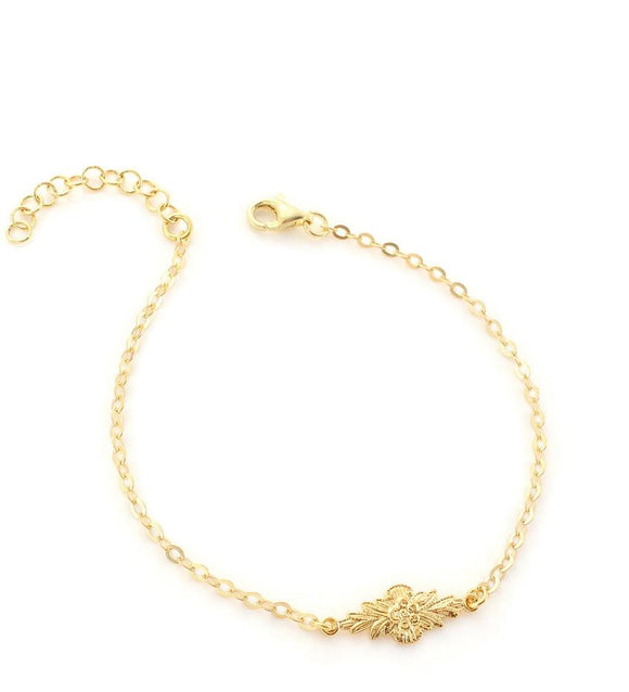 Goldplated link bracelet - Dige Designs