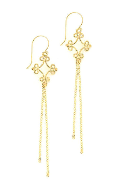 Long goldplated earrings - Dige Designs