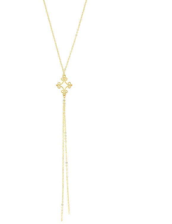 Long gold plated necklace - Dige Designs
