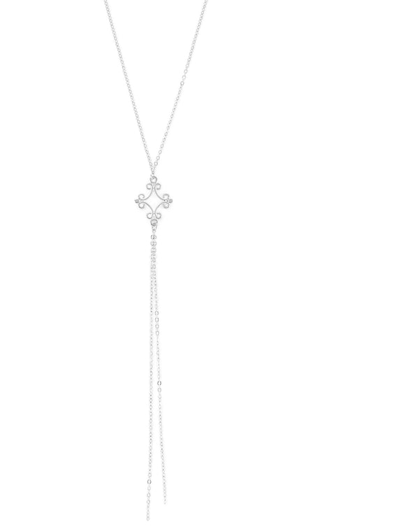 Long silver necklace - Dige Designs