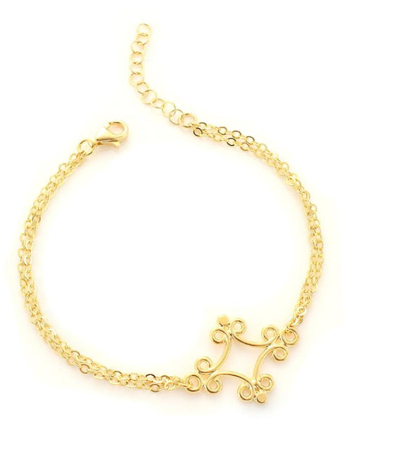 Gold plated link bracelet - Dige Designs