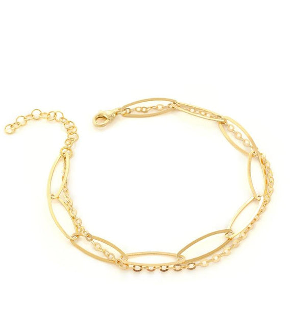 Goldplated double chain bracelet - Dige Designs