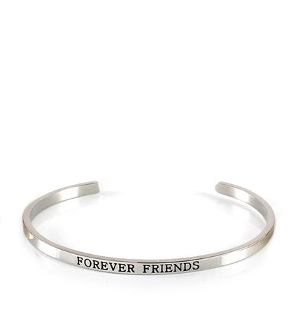 """Forever Friends"" platinum plated bangle bracelet - Dige Designs"