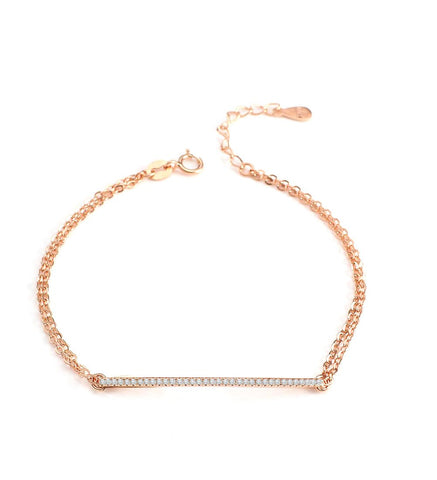 Rose gold plated bracelet with crystals - Dige Designs