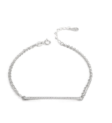 Platinum plated bracelet with crystals - Dige Designs