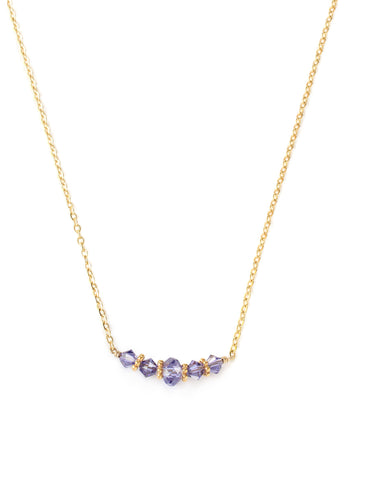 Short tanzanite necklace - Dige Designs