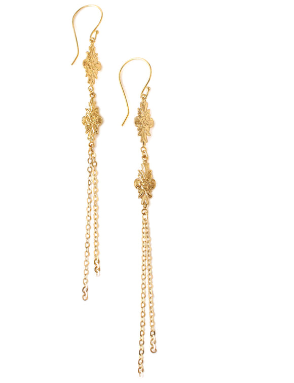 Dige Designs long gold plated link earrings