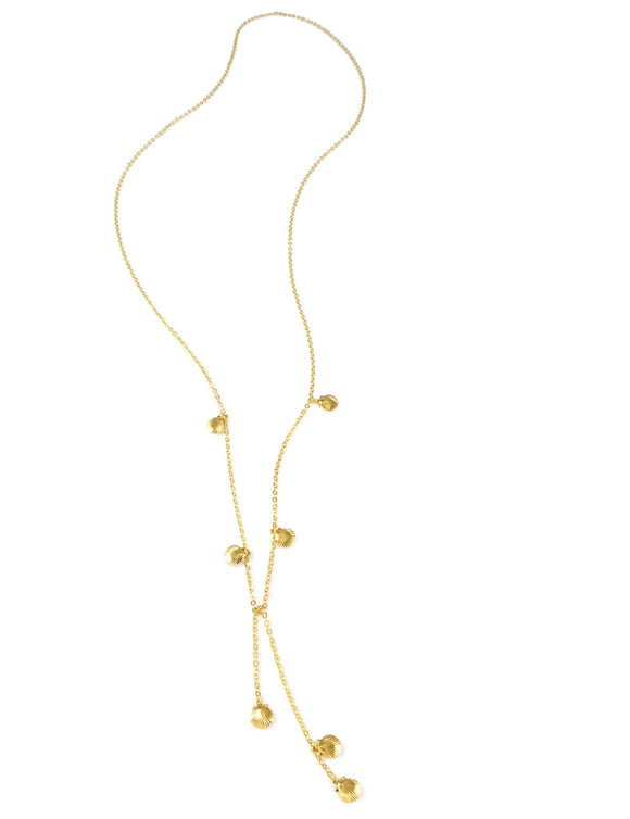 Dige Designs gold seashell wrap necklace
