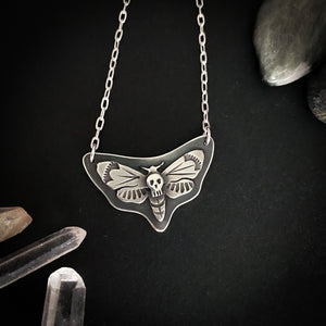 Death Moth Necklace - Sterling silver