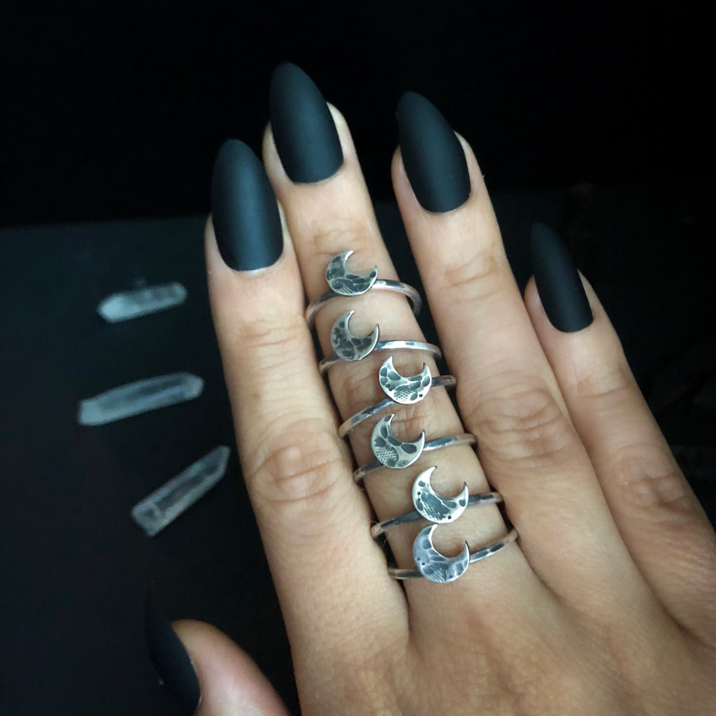 Little Luna Sterling Silver Stacker Rings