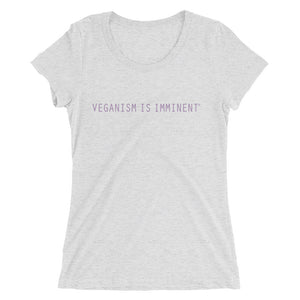 """Imminent Vegan"" - Women's Fitted T-Shirt"