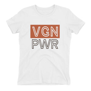 """Vegan Power"" - Women's Relaxed Favorite T-Shirt"