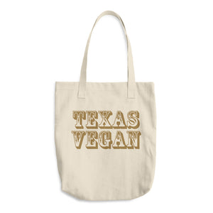 Cotton Tote Bag - Texas Vegan