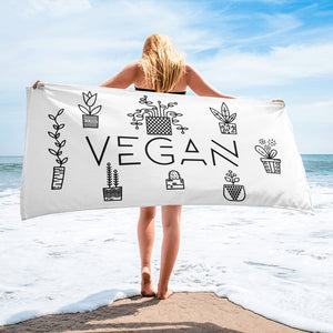 """Vegan Plant Lover"" - Beach Towel"