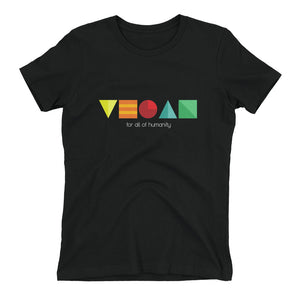 """Artsy Vegan"" - Women's Relaxed Favorite T-Shirt"