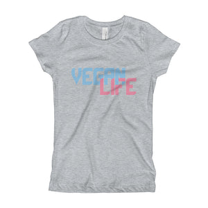 """Vegan Life"" - Girl's Slim T-Shirt"