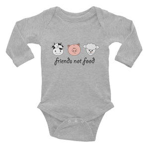 """Friends Not Food"" - Infant Long Sleeve Onesie"