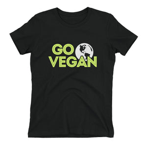 """Go Vegan"" - Women's Relaxed Favorite T-Shirt"