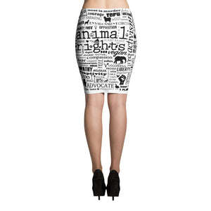 """Animal Rights"" - Women's Pencil Skirt"