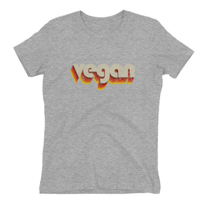 """Throwback Vegan"" - Women's Relaxed Favorite T-Shirt"