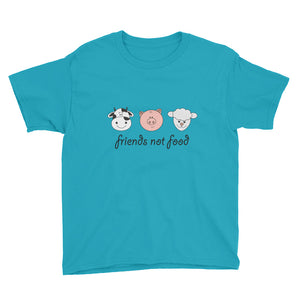"""Friends Not Food"" - Youth Short Sleeve T-Shirt"