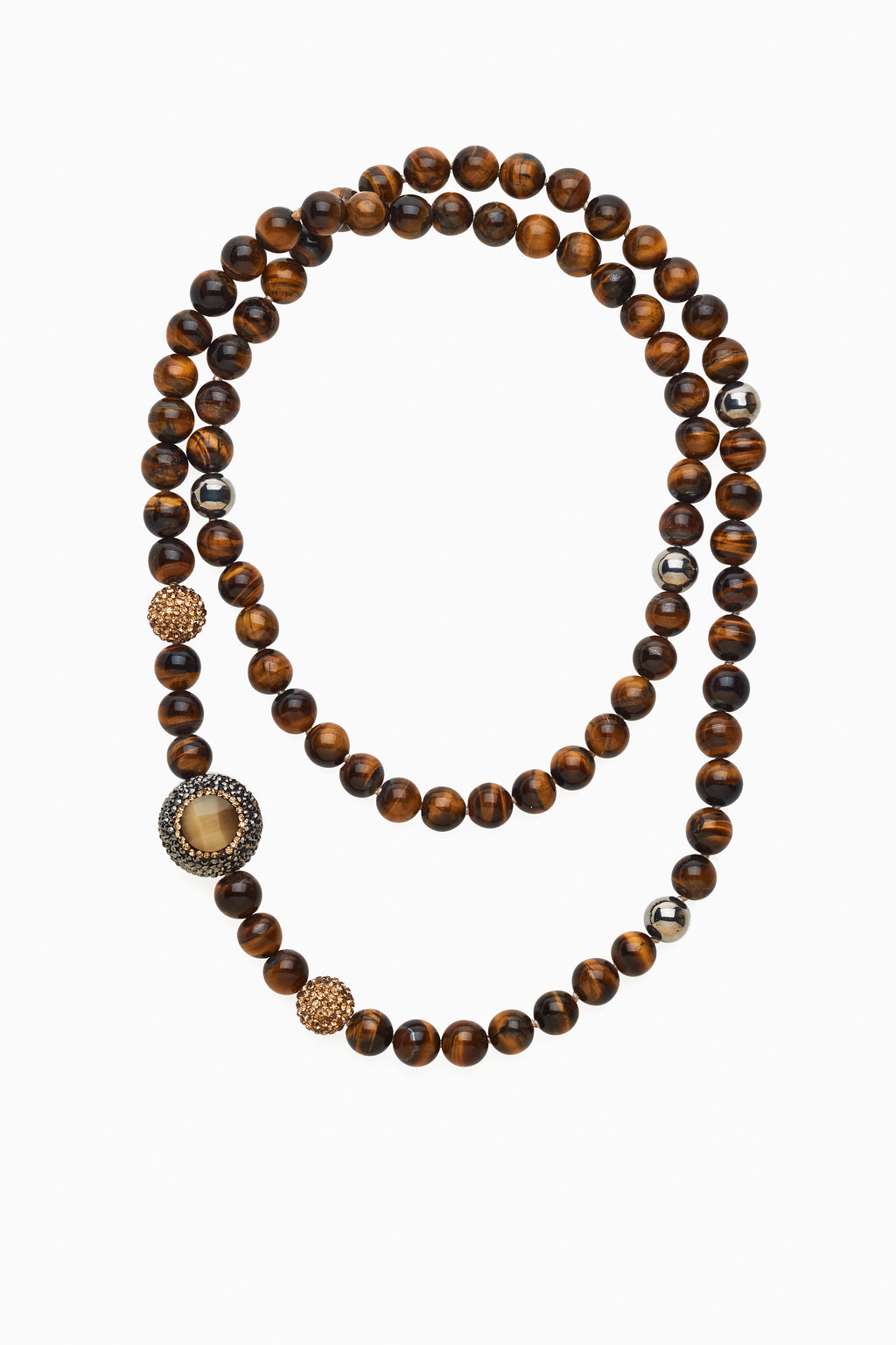 Embellished Tiger's Eye Necklace
