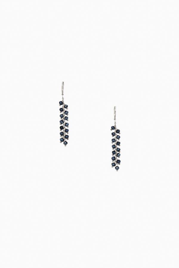Dark Blue Faceted Crystal Earrings
